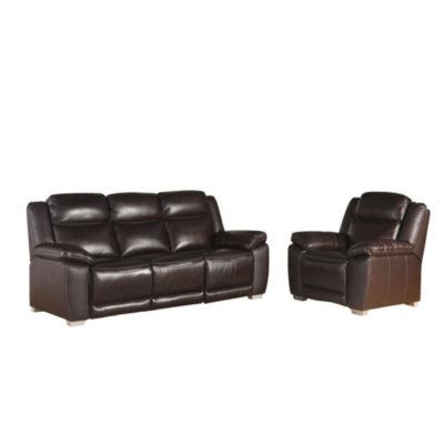 Devon & Claire Bonilla Top Grain Leather Reclining 2 Piece Seating Set