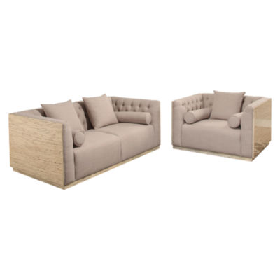 Devon & Claire Reed 2 Piece Wood Shell Seating Set