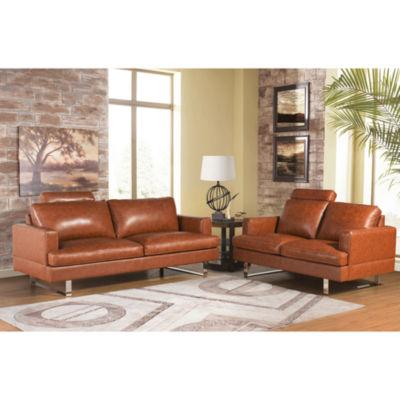 Devon & Claire Andres Top Grain Leather Sofa