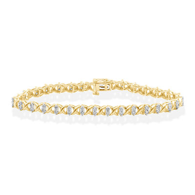 2 CT. T.W. Genuine Diamond 10K Yellow Gold Bracelet