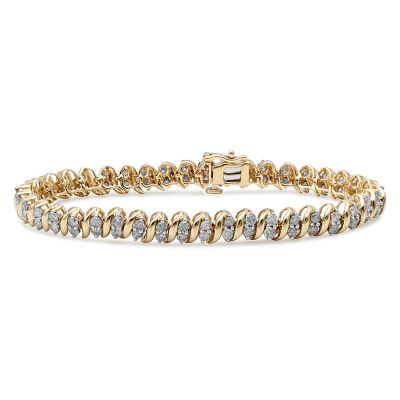 4CT. T.W.  Diamond 10K Yellow Gold Bracelet
