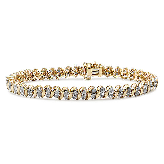4CT. T.W. Genuine Diamond 10K Yellow Gold Bracelet