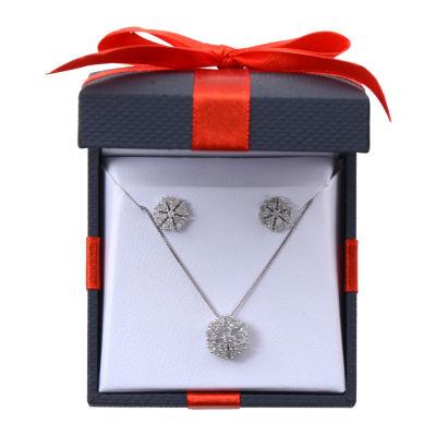 1 CT. T.W. Genuine White Diamond 10K Gold 2-pc. Jewelry Set