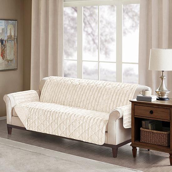 Madison Park Duke Faux Fur Sofa Protector
