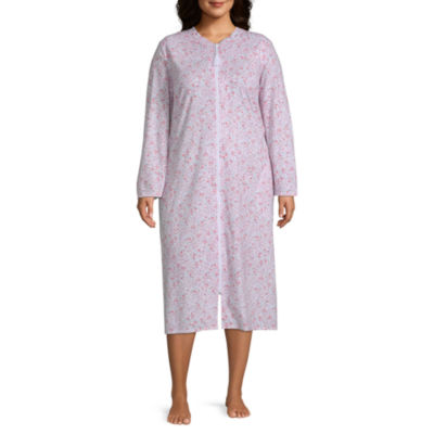 Adonna Womens-Plus Robe Long Sleeve Long Length