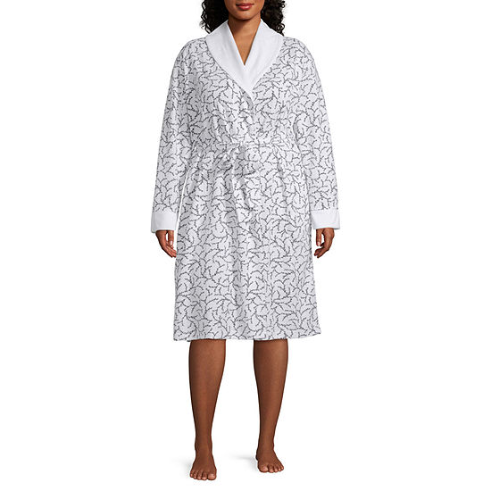 Liz Claiborne® Plus Size Printed Spa Robe