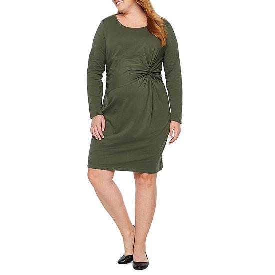Belle & Sky Maternity Twist Front Dress - Plus