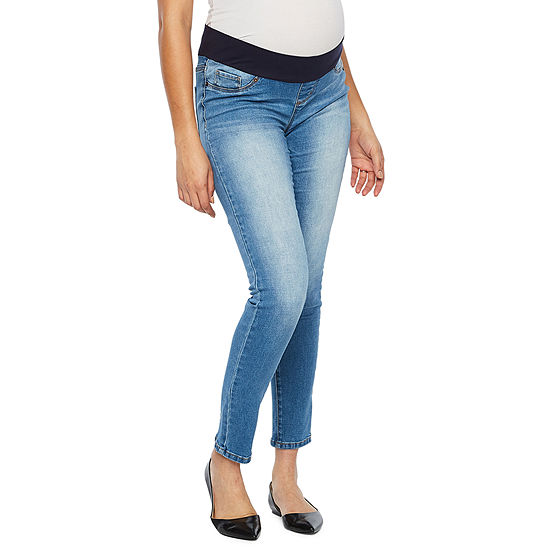 Belle & Sky Maternity Demi Panel Skinny Jean