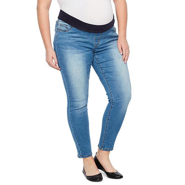 b67768c718b15 Belle & Sky Maternity Demi Panel Skinny Jean - Plus. Planet Motherhood ...