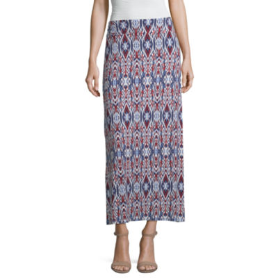 Liz Claiborne Womens Mid Rise Maxi Skirt