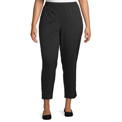 Liz Claiborne Weekend Side Slit Ankle Pant - Plus