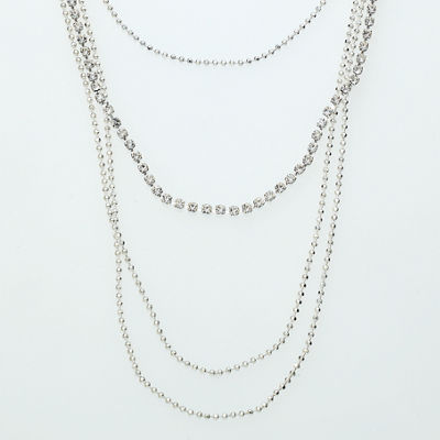 Bijoux Bar Womens Beaded Necklace