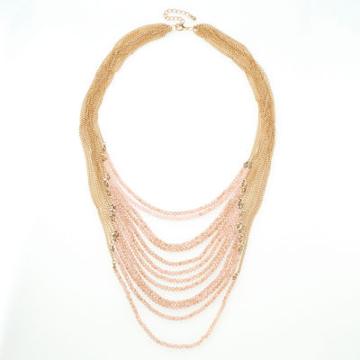 Bijoux Bar Girls Pink Beaded Necklace