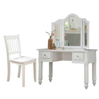 Lakehouse Desk with Mirror and Chair