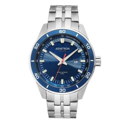 Armitron Mens Silver Tone Bracelet Watch-20/5289nvsv