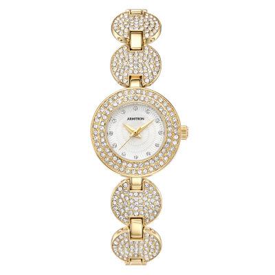 Armitron Armitron Womens Gold Tone Bracelet Watch-75/5638svgp