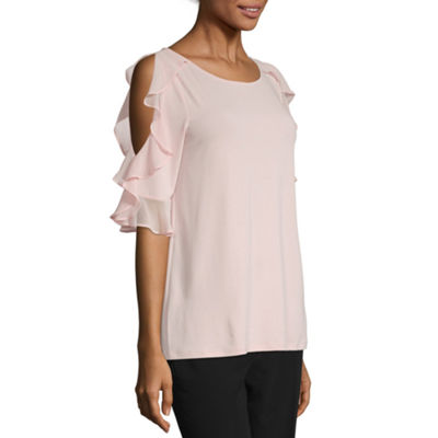 Worthington Ruffle Cold Shoulder - Tall