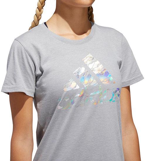 773d12bc345 adidas Short Sleeve Crew Neck T-Shirt-Womens - JCPenney