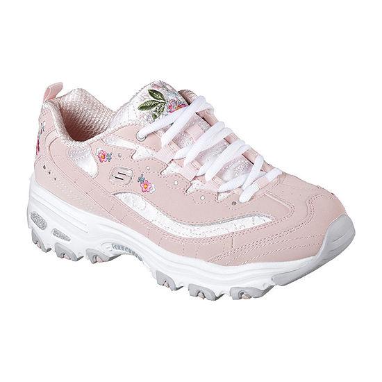 Skechers D'Lites Flower Womens Sneakers