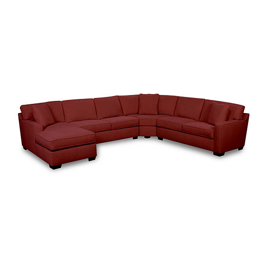 Fabric Possibilities Track Arm 4-Piece Left Arm Facing Chaise Sectional
