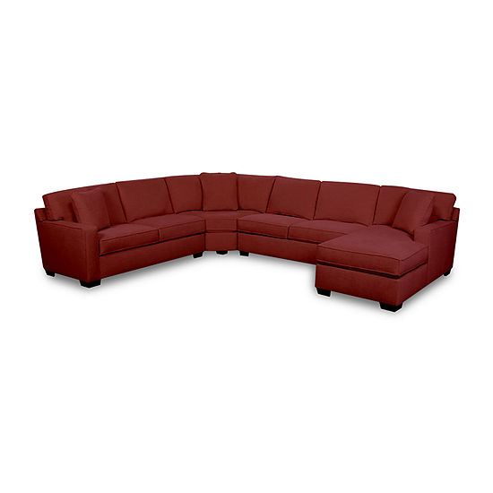 Fabric Possibilities Track Arm 4-Piece Right Arm Facing Chaise Sectional