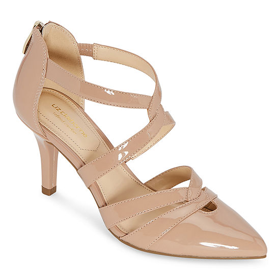 Liz Claiborne Womens Havra Pointed Toe Kitten Heel Pumps
