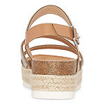 Pop Enlighten Womens Ankle Strap Footbed Sandals