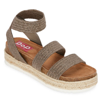 Pop Paradiso Womens Footbed Sandals