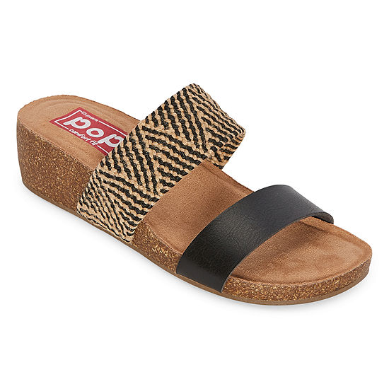 Pop Womens Kalida Wedge Sandals