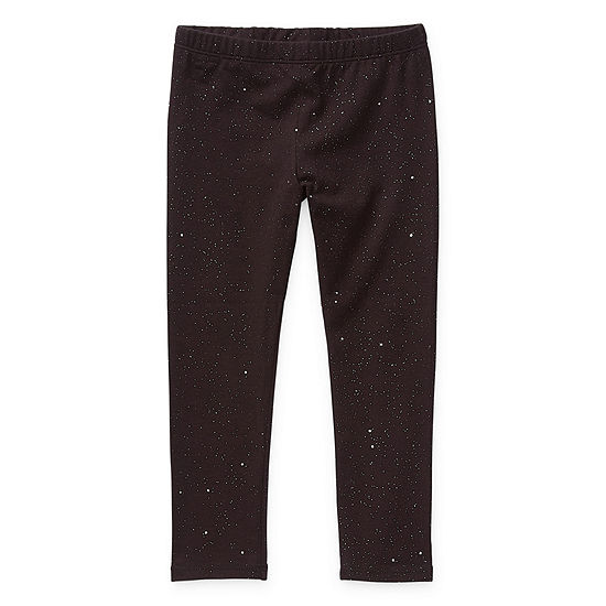 Okie Dokie Solid Toddler Girls Full Length Leggings