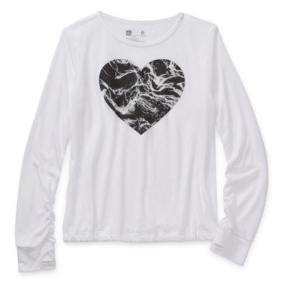 Xersion Girls Round Neck Long Sleeve T-Shirt Preschool / Big Kid
