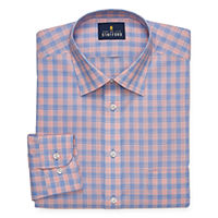 JCPenney deals on Stafford Mens Travel Easy-Care Broadcloth Stretch Dress Shirt