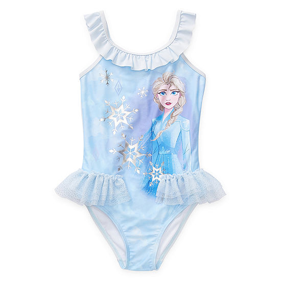 Disney Collection Little & Big Girls Frozen One Piece Swimsuit