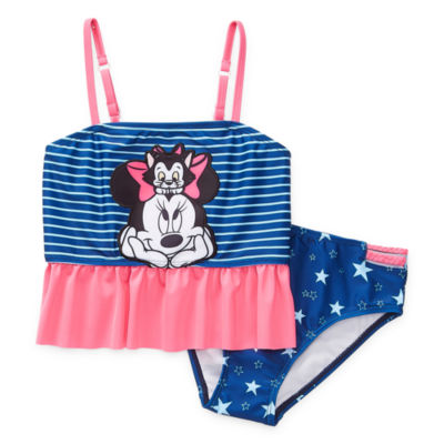 Disney Collection Little & Big Girls Minnie Mouse Tankini Set