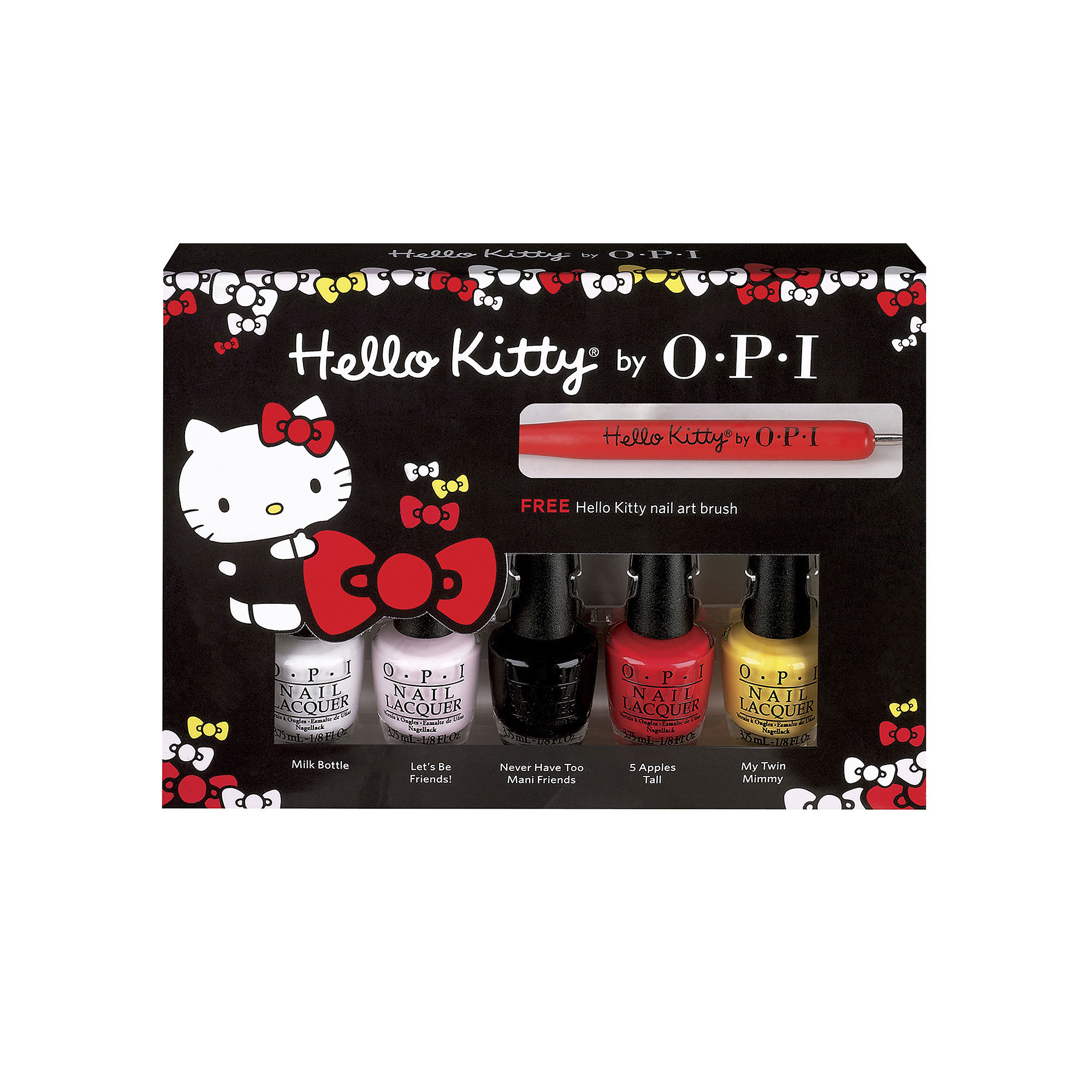 Upc 619828121714 Opi 5 Pk Hello Kitty Friends Mini Nail Polish Brush In 1
