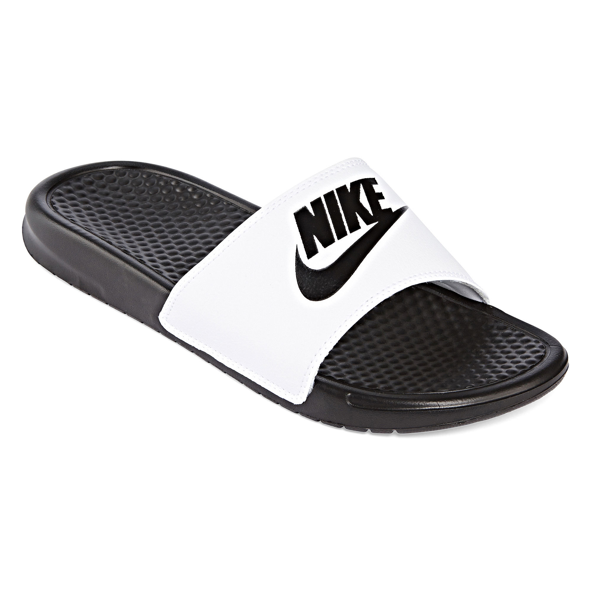 885176767458 UPC - Nike Benassi Jdi Men's Slide Sandals (White)   UPC Lookup