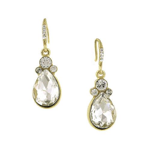 1928® Crystal Gold-Tone Teardrop Earrings