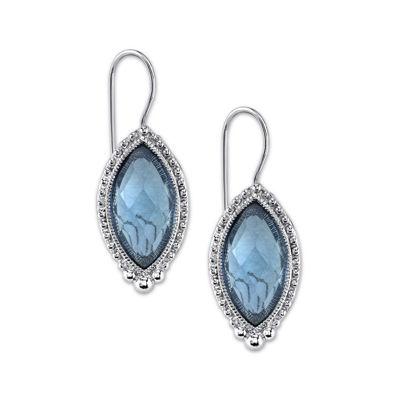 1928® Silver-Tone Blue Earrings