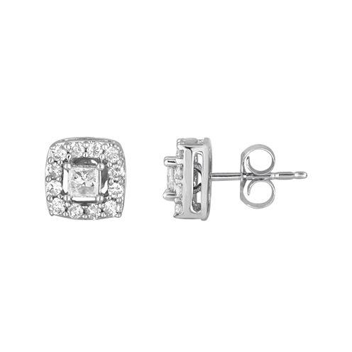 LIMITED QUANTITIES 3/4 CT. T.W. Princess-Cut Diamond Earrings