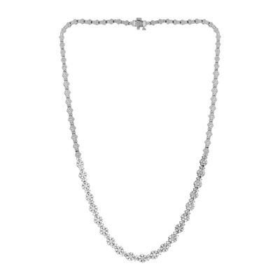 LIMITED QUANTITIES 3 CT. T.W. Diamond 10K White Gold Necklace