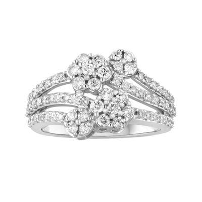 CLOSEOUT! 1 CT. T.W. Diamond 10K White Gold Ring