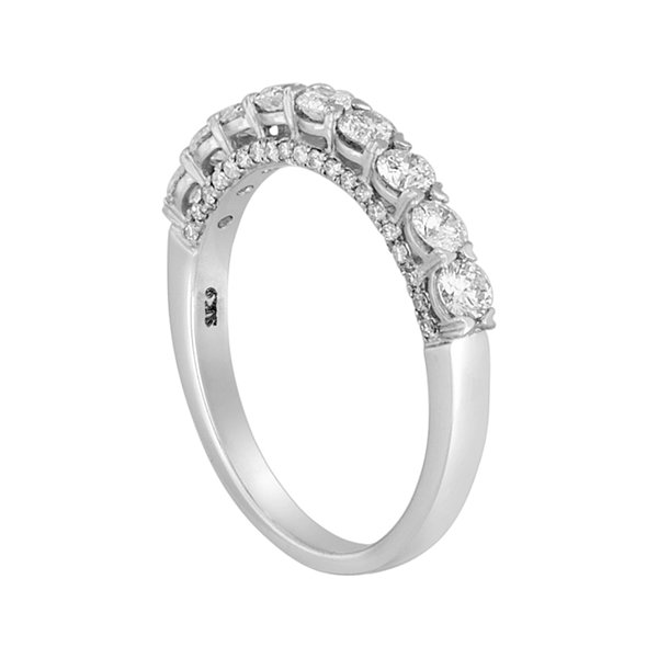 LIMITED QUANTITIES 1 CT. T.W. Round 14K White Gold Band Ring