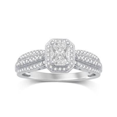 LIMITED QUANTITIES 1/2 CT. T.W. Diamond 10K White Gold Ring