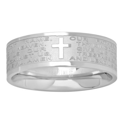 Mens 6mm Stainless Steel Band