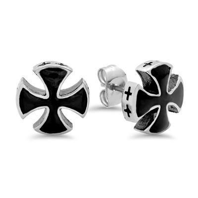 Steeltime Stainless Steel Stud Earrings