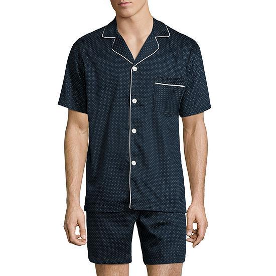 Stafford® Sateen Short Sleeve/ Short Leg Pajama Set - Men's