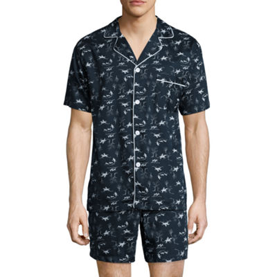 Stafford® Sateen Short Sleeve/ Short Leg Pajama Set - Men's