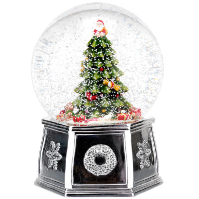 "Spode Musical Snow Globe Tree ""Wishing You A Merry Christmas"""