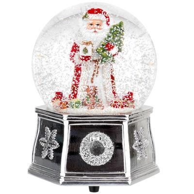 "Spode Musical Snow Globe Santa ""Wishing You A Merry Christmas"""