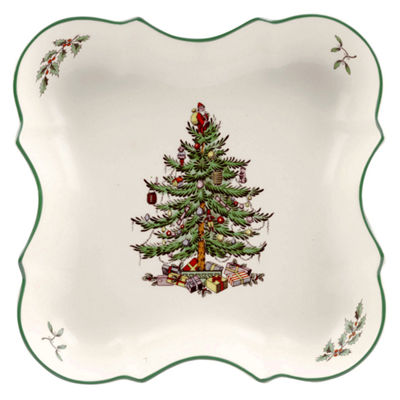 "Spode Christmas Tree 8"" Serving Tray"